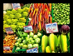 PhotoGirlTravels PikeMarket veggies