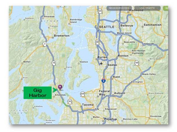 gig harbor map