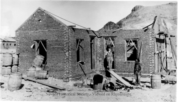 Bottle house 1906 in Death Valley, California