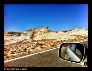 Driving along the interior roads in Death Valley - very few cars will pass you in an hour!