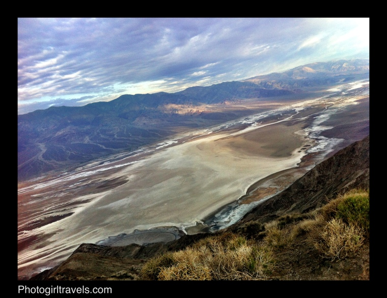 Dantes View out over the salt beds in Death Valley, California