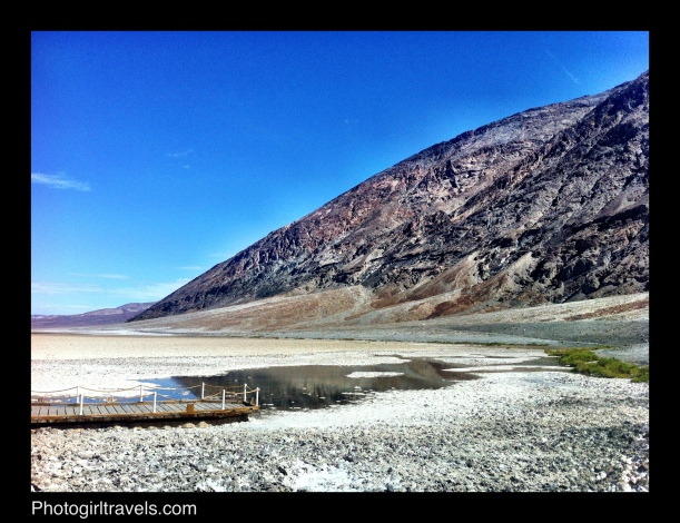 View in Badwater salt beds in Death Valley, California