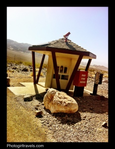 Kiosk in Death Valley where you pay your entry fee
