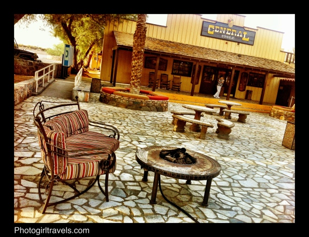Fire pits at The Ranch at Furnace Creek in Death Valley