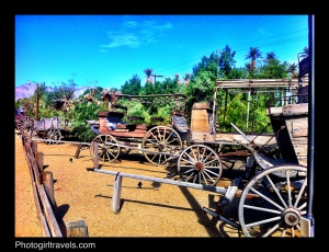 Outdoor museum at The Ranch