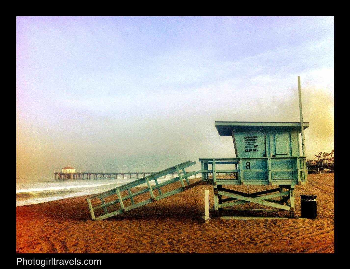 San Diego Road Trip Sunrise Walk In Manhattan Beach Photo Girl