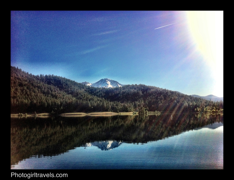 Mount Shasta Reflection in Siskiyou Lake at Sunrise