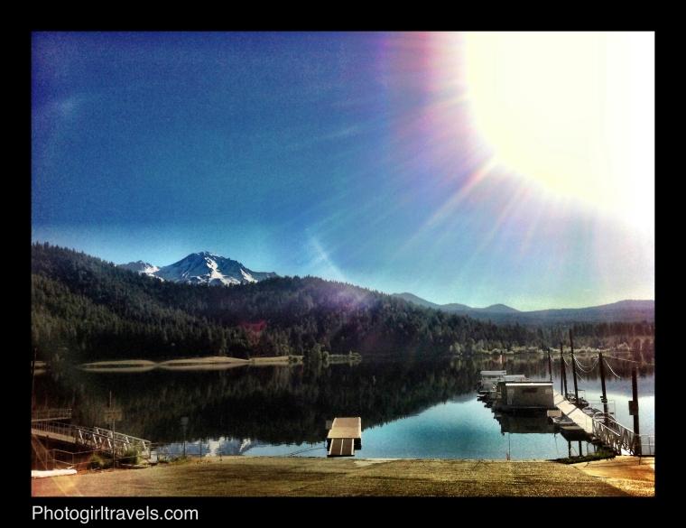 Mount Shasta Reflection in Siskiyou Lake at Sunrise