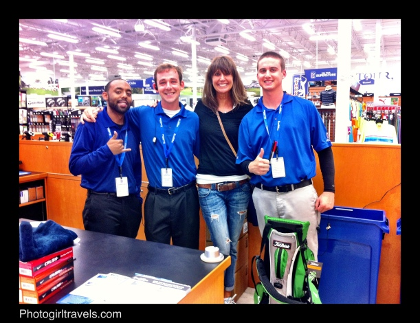 Ordering my irons! My new bag is on the right. Mathew Green (left) Michael Brown (next) Me, Steven Fijak (right)