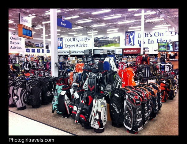 The PGA Superstore...the golf bag section