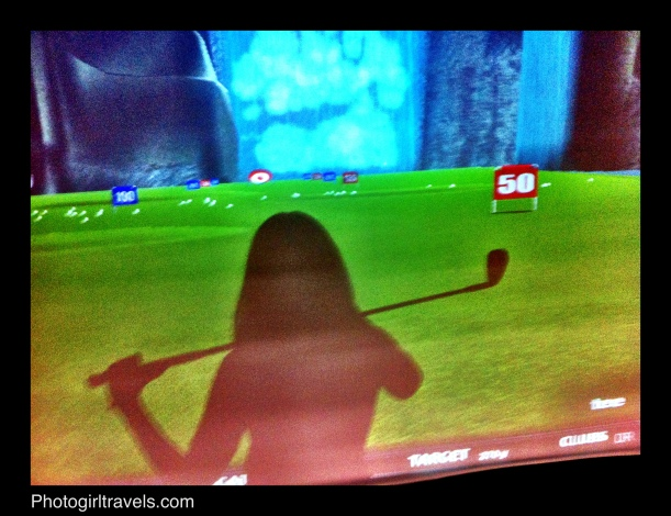 My shadow in the simulator trying new clubs