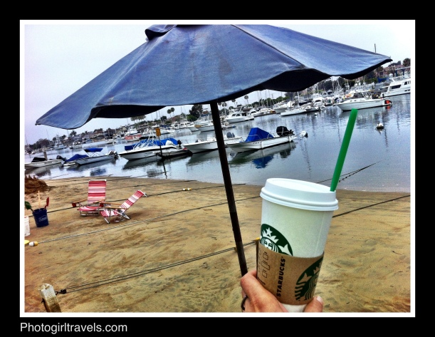 Morning walk on Balboa Island