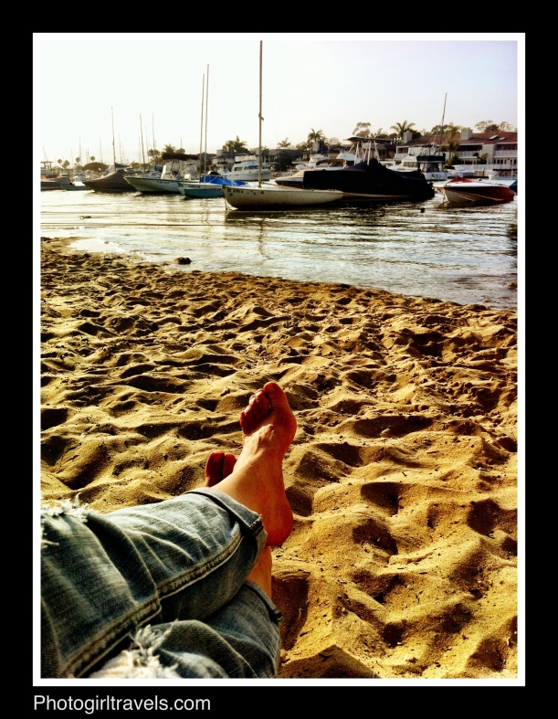 Great way to chill is to put your feet in the sand!