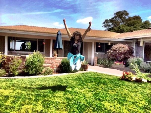 Me on the day I moved...I look happy but actually I was jumping off STRESS!